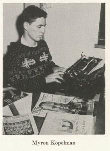 Myron Kopelman Pitt News 1950